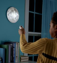 """Just what we need for our little girl who talks of nothing but the moon, stars, and """"ashermoons.""""  --Aurelas--  Battery Powered Moon in My Room with Remote Control"""