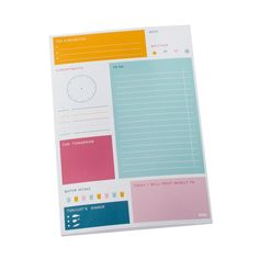 AU$12.95 Daily Notes Pad: Happy from kikkiK. Oh how much pleasure I would get out of organising my day!