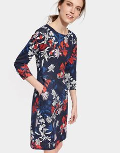 5f2a8f1586d Joules Beth Women's Printed Ponte Dress Maxi Dress With Sleeves, Long  Sleeve Floral Dress,