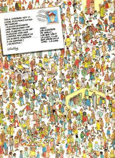 buscando a wally Wheres Waldo, Attention, Searching, Book, Note Cards, Wheres Wally