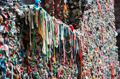 Gum wall - Seattle -everybody's nasty gum TOO FUN!  At Pikes Market