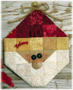 "Stitcherie Candle Mats   Happy Hollow Designs: ""BELIEVE"" SANTA CREATIVE CARRYOUT KIT"