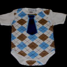 Baby argyle onesie