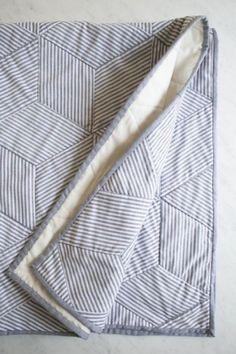 Striped Tumbling Blocks Quilt Sewing Pattern