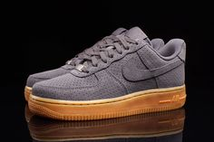 Nike Air Force 1 (Dark Grey/Gum)