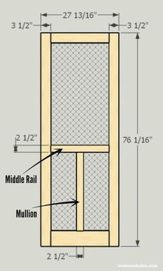 Looking for screen door ideas? Build your own wooden DIY screen door with these plans - customize for your needs