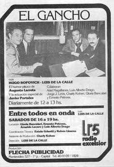 Publicidad Radio EXCELSIOR, Buenos Aires, década del 80.