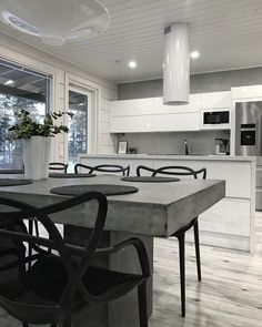 Kitchen Dining, Dining Table, Home Kitchens, Interior, House, Furniture, Home Decor, Kitchens, Counter Height Stools