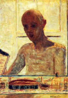 Self Portrait in a Shaving Mirror by @pierre_bonnard #intimism