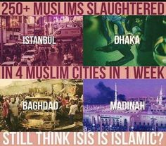 #ISIS is not Islamic . Anyone who says it is don't know what Islam is and are ignorant to what the terrorist organisation is doing. They continue to kill and torture Muslims more than Non-Muslims. They are the Khawarijs that Prophet Muhammad (ﷺ) spoke about and said they should be killed every single one of them since they bring nothing but destruction. May Allah guide them if they are to be guided and destroy them if they are not to be guided.