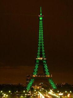 Green Eiffel Tower #ridecolorfully
