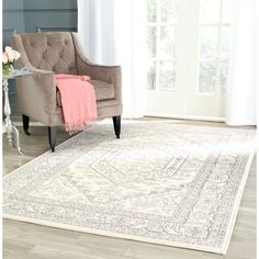 Safavieh Vintage Adirondack Ivory Rug (6' x 9') | Overstock.com Shopping - The Best Deals on 5x8 - 6x9 Rugs
