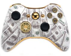 Money Talks All Bullet Xbox 360 Rapid Fire Custom Modded Controller Exclusive Design COD Advanced Warfare, Ready Zombie Auto Aim, Drop Shot, Fast Reload, & MORE for Ghost !