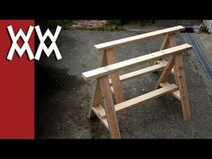 How To Build A Simple Set Of Saw Horses - http://www.gottagodoityourself.com/how-to-build-a-simple-set-of-saw-horses/