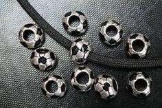Single Charm Soccer [C28] - $0.99 : Paracord for sale at discount prices, 550 Paracord, Bracelet Supplies, Beads, Buckles, Charms from ParacordGalaxy.com