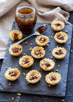 One of the easiest appetizers I've made are these Baked Brie Fig Jam Bites. 4 ingredients and 10 minutes to make this stress free sweet and savory bite! Brie Appetizer, Yummy Appetizers, Appetizers For Party, Appetizer Recipes, Appetizer Buffet, Vegetarian Appetizers, Appetizer Ideas, Christmas Appetizers, Party Snacks