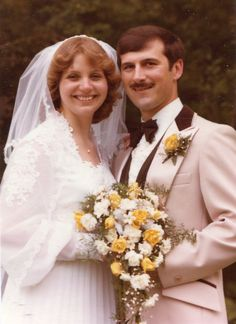 Pauline and Augie 1970s Wedding, Vintage Wedding Photos, Vintage Weddings, Wedding Pictures, Here Comes The Bride, Bridal Fashion, Wedding Portraits, Bridal Style, Marie