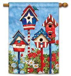 Custom Decor Flag Welcome Birdhouses Decorative Flag at Garden