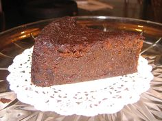 Jamaican Black Cake - no chocolate, only spices, dark sugar and fruits - and rum, port etc. :-D
