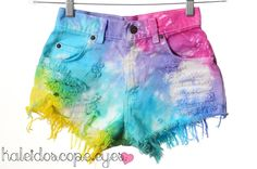 high waisted tie dye..love the colors.