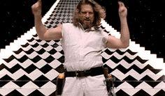 Jeff Bridges as The Dude in Big Lebowski --Dance, Dude, Dance! The Big Lebowski, Big Lebowski Meme, El Gran Lebowski, Gif Dance, Dance Moves, Just Dance, Gif Animé, Animated Gif, Movie Gifs