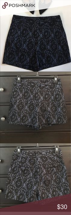 EXPRESS shorts NWOT Dressy high waisted black lace shorts. Very nice. Never worn. Express Shorts