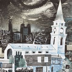 Mark Hearld collage for Spitalfields Life. See more of Mark's work online… Photomontage, Illustrations, Illustration Art, Between Two Worlds, Royal College Of Art, London Art, Collage, Linocut Prints, Gravure