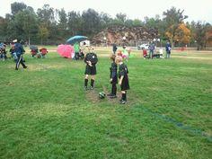 Rainy day soccer at Arroyo Seco.