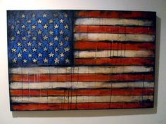 American Flag Abstract Painting Abstract Expressionism