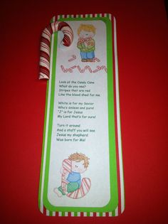 Legend of the Candy Cane - You can add a Candy Cane Ornament or a real Candy Cane