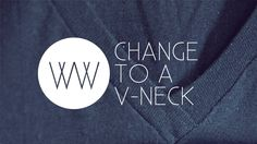 How to Make a V-Neck from a Regular Shirt, via YouTube.  ~~ the best I've seen.