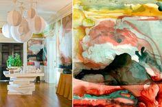 Wandbemalung mit Aquarell-Effekt für jeden Raum
