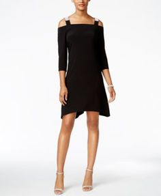 MSK Cold-Shoulder Shift Dress | macys.com