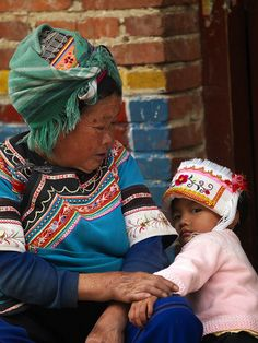 Young girl and grandmother, Yunnan, China by Eric Lafforgue, via Flickr
