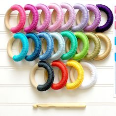20 fabulous colors to choose from … #organic #wood #teethers for #babies #teethingtoy #babyshower #wholesale