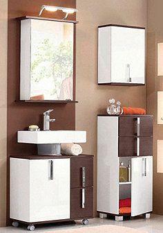 Badmöbel-Set »Kampen« (3-tlg.) - weiß-schokofb. Sink, Vanity, Bathroom, Medium, Home Decor, Closet Storage, Bathrooms, Homes, Brown