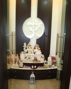 Temple Room, Home Temple, Temple Design For Home, Floor Design, Ceiling Design, Mandir Design, Pooja Mandir, Pooja Room Door Design, Bungalow Interiors