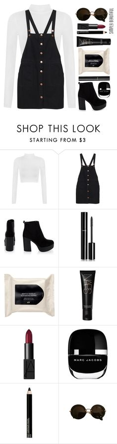 """Black Summer"" by spellrox ❤ liked on Polyvore featuring WearAll, Monki, Chanel, H&M, NARS Cosmetics, Marc Jacobs, Isadora and Miu Miu"