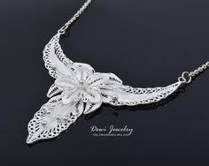 925 Sterling Silver Filigree Unique Yogyakarta by DewiJewelry