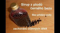 Bezinkový sirup z plodů Korn, Herbalism, Food And Drink, Drinks, Youtube, Health, Medicine, Syrup, Herbal Medicine
