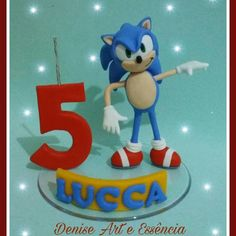 topo de bolo do sonic Bolo Sonic, Smurfs, Fictional Characters, Creative Products, Kids Part, Creativity, Artists, Fantasy Characters