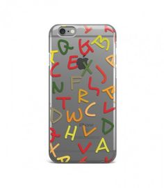 Elegant Colorful Alphabet Pattern Clear or Transparent Iphone Case for Iphone 3G/4/4g/4s/5/5s/6/6s/6s Plus - ALPBH0022 - FavCases