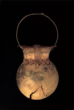 Golden Bulla, by Unknown artist, 1st Century, gold leaf with filigree decoration