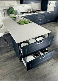 If you are looking for Small Kitchen Remodel Ideas, You come to the right place. Below are the Small Kitchen Remodel Ideas. This post about Small Kitchen R. Home Decor Kitchen, Diy Kitchen, Kitchen And Bath, Home Kitchens, Kitchen Small, Smart Kitchen, Kitchen White, Hidden Kitchen, Apartment Kitchen