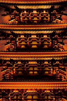 The detail of pagoda in Asakusa, Tokyo, Japan