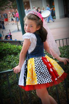 DISNEY Minnie overall jumper Custom ODOD size by littlebitsbylisa, $70.00