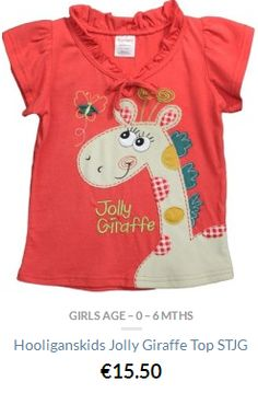 Hooliganskids Pretty top with giraffe and butterfly appliqué This product is certified Fair Trade Made from jersey cotton – machine washable Available in sizes from upto Baby Boutique Clothing, Beautiful Children, Fair Trade, Giraffe, Kids Outfits, Mens Tops, Cotton, 12 Months, Clothes