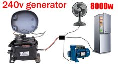 Refrigerator Compressor, A Frame House Plans, Diy Generator, Energy Projects, Alternative Energy, Electronics Projects, Motorhome, Generators, U2