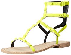 Rebecca Minkoff Womens Georgina Gladiator Sandal Chartreuse Nappa 85 M US *** This is an Amazon Affiliate link. Read more reviews of the product by visiting the link on the image.