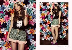 Musculosa Ursula + Short Deb Esquire, Summer Of Love, Floral, Skirts, Fashion, Moda, Skirt Outfits, Fasion, Skirt
